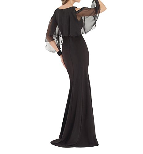 Schwarz La Festlichkleider Trumpet mia Brau Lang Elegant Meerjungfrau Etuikleider Abendkleider Brautmutterkleider Partykleider PPrp6