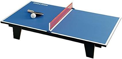 Juego - Mesa de Ping Pong I Tamaño pequeño - Color Azul: Amazon.es: Juguetes y juegos