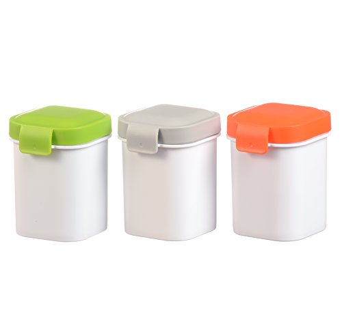 Freshbox 12 Oz Leakproof sauce Cups Set of 3 Mini Dippers Small Dip, Condiment, or Sauce Containers with lids (Leak Proof Sauce Container compare prices)