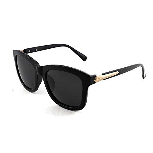 Color WYYY Clásico Anti Protección Negro Solar Polarizada 100 Hombres Retro Luz Negro Cuadrada Decoración Caja UV de UVA gafas Protección sol Sra A4ArHg