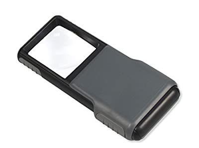 Carson 5x MiniBrite LED Lighted Slide-Out Aspheric Magnifier with Protective Sleeve (PO-55, PO-55MU)