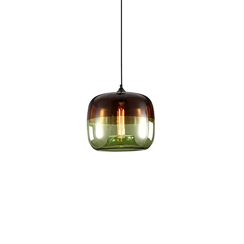 Ganeep Nordic Pendant Lights Creative Apple Plating Glass Hanging Lights Lustre Suspension Kitchen Light Fixture E27 Home Hanglamp (Color : Green) ()