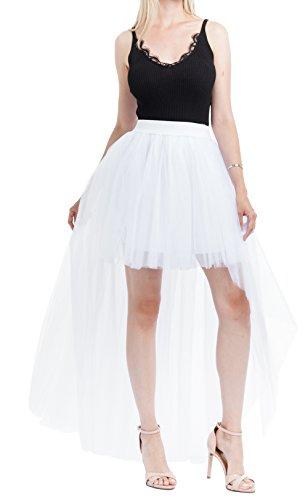 Femme Taille Asymtrique Jupe Wei Wei Unique Blanc zoulouyou Uni RqtwxP