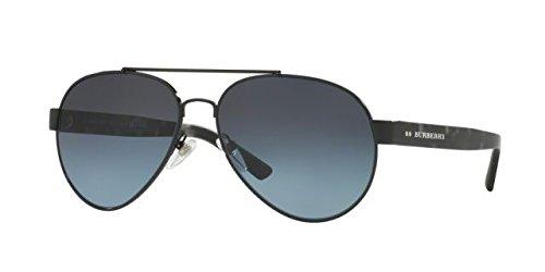 Burberry Men's 0BE3086 Black/Polar Gradient Blue - Burberry Aviator Sunglasses