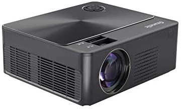 6200 Lumens 1080p Projector, Gzunelic Dwelling Theater Full HD Projector ,80,000 Hours LED Lamp Video Proyector In-built 2 HI-FI Stereo Audio system with 2 HDMI USB AV VGA Audio Connections