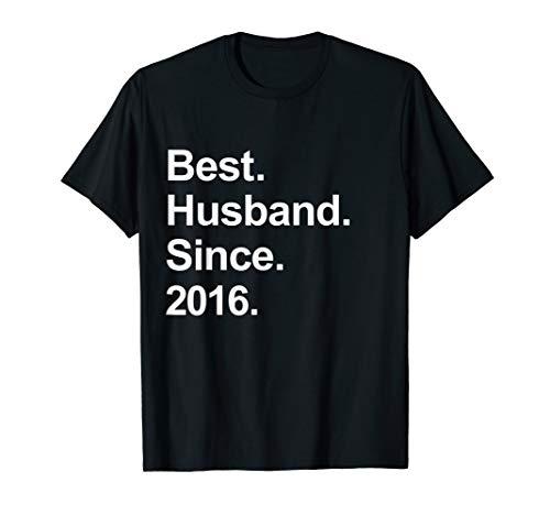 Mens 3rd Wedding Anniversary Gifts, Best Husband Since 2016 Shirt