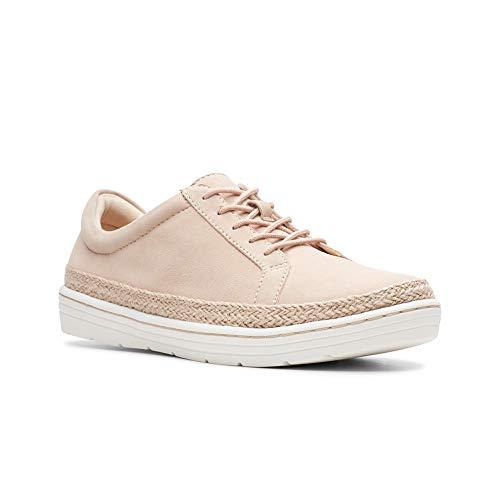 CLARKS Women's Marie Mist Sneaker Blush Nubuck 075 M US ()