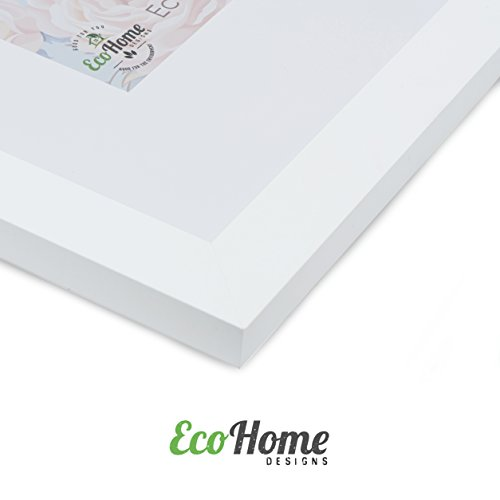 11x14 White Picture Frame - Matted for 8x10, Frames by EcoHome by Eco-home (Image #4)