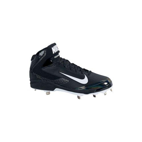 Tacchetta Nike Mens Huarache Pro Mid Metal - Nero / Bianco - 13.5 599235-001-13.5