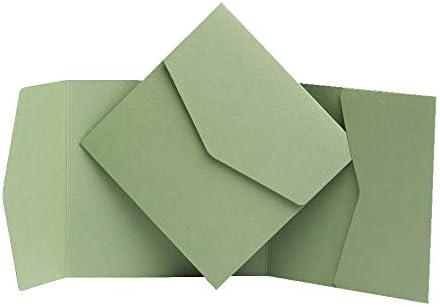 Salvia verde opaco biglietti d invito 150/mm x 150/mm da biglietti d invito Ltd Green