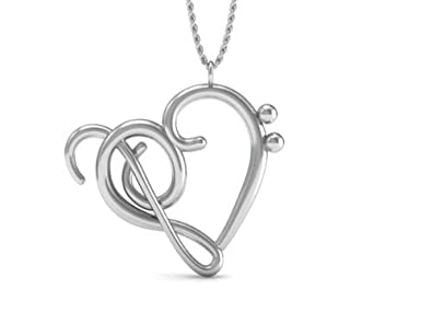 Amazon the best music note pendant necklace 925 sterling the best music note pendant necklace 925 sterling silver 18 inch necklace with heart of aloadofball Images
