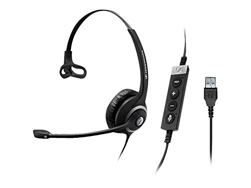 Sennehsier CIRCLE Seriers SC 230 MS II, Single-sided, Wired Headset, USB in-line Call Control Unit, Certified for Skype for Business
