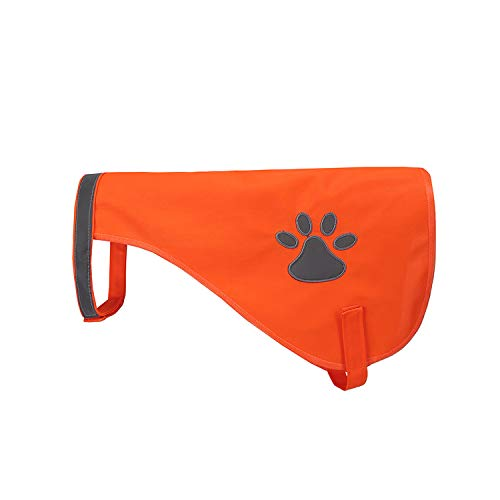 A-SAFETY Reflective Outdoor Pet Vest, Reflective High Visibility Safety Vest for Outdoor Activity Day and Night, Keep Your Dog Visible and Safe Orange,11.8inches ()
