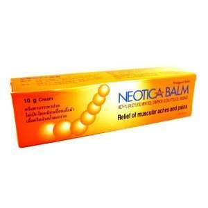 Neotica Balm Analgesic Cream Relief Muscular Pain Aches Cramps & Sport Injury Thailand. (Product of Thailand)