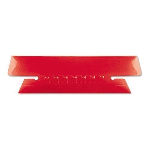 Pendaflex 4312RED Hanging File Folder Tabs, 1/3 Tab, 3 1/2 Inch, Red Tab/White Insert, 25/Pack by Pendaflex