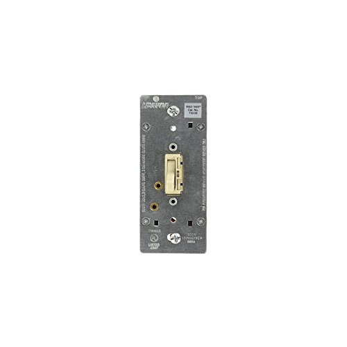 Leviton TGI06-13I Toggle Touch Incandescent Dimmer Light Switch Single Pole and 3-Way, Ivory with Gold Pads