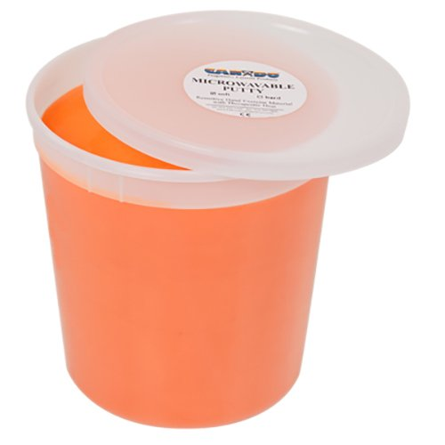 Cando Massage Fitness Equipment Microwavable Theraputty Exercise Material 5 Lb - Orange - Soft