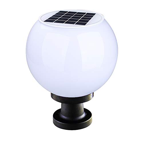 - 9.8 inch Solar Post Cap Lights,3000K Warm White,Outdoor Waterproof Solar Fence Lights,Solar Powered Lamp for Pathway,Garden,Patio,Driveway,Yard