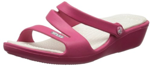 Crocs Women's Patricia Loafer,Raspberry/Oyster,10 M US
