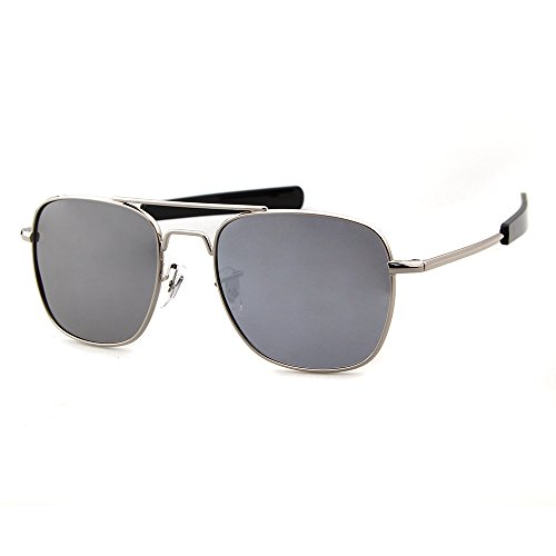 Frame 100 Men Protection Sunglasses ADEWU Goggles Silver Polarized Silver Lens Sports UV400 Outdoor for 1qEO4