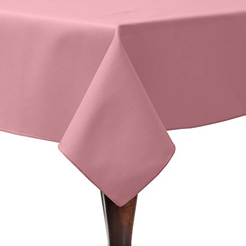 Ultimate Textile -23 Pack- Poly-Cotton Twill 60 x 120-Inch Rectangular Tablecloth, Dusty Rose Pink ()