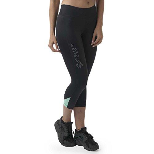Sub Sports Womens Capri Compression Leggings Running 3/4 Three Quarter -S (Power 3/4 Stretch Pant)