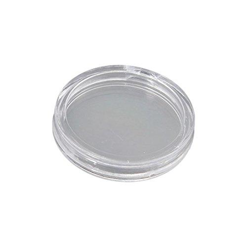 25 Mm Coin Shape (TOOGOO(R) 50x Portable Plastic Clear Coin Box Storage Case Holder Diameter 25mm)