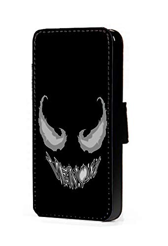 c riveras Venom Cartoon Inspired Phone Case Venom Name Mobile Case Fan Art Faux Leather flip Wallet Mobile Cover Samsung Galaxy S3 (Cartoon Galaxy S3 Phone Flip Case)