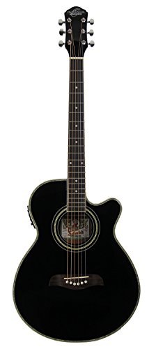 t-Size Thin Body Cutaway Acoustic-Electric Guitar - Black (Thin Body Acoustic Electric Guitar)