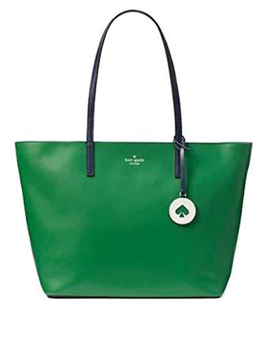 - Kate Spade Tanya Leather Tote Bag Purse Handbag for Work School Office Travel (Green)