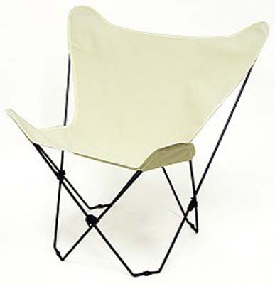 - Solid Natural Color Canvas Butterfly Chair Cover Only