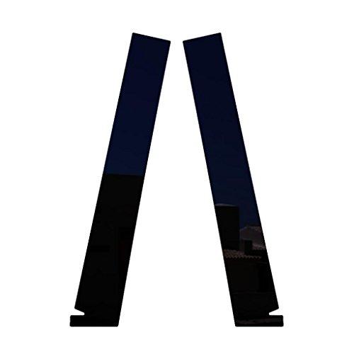 Ferreus Industries Piano Black Pillar Post Trim Cover fits: 2003-2007 Honda Accord 2 Door Coupe PIL-132-GB-FER2017 ()