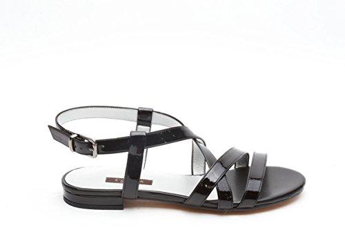 L amour sandali bassi in vernice nero