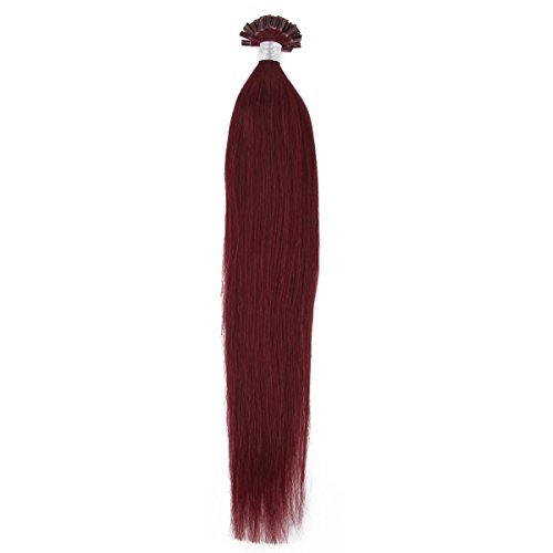 Beauty7 50g 1g/s Pre Bonded Nail U Tip Real Remy Human Hair Extensions 18