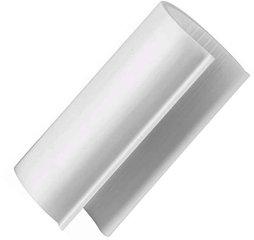 HD White Snap Clamp 1-1/2 Inch X 4 Inches Wide for 1-1/2 Inch PVC Pipe 10 Per Bag