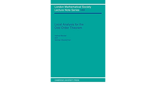Local analysis for the odd order theorem