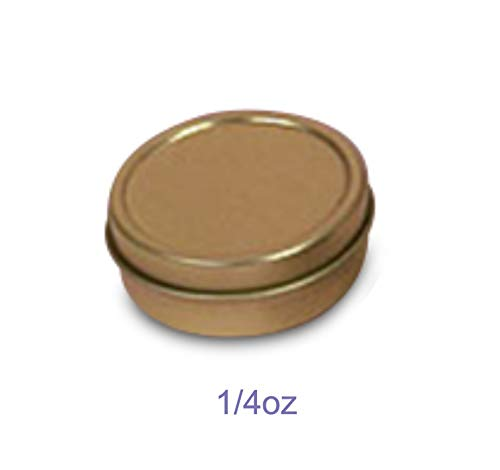(MagnaKoys 1/4oz & 1/2oz Empty Gold Slide Top Round Tin Containers for Lip Balm, Crafts, Cosmetic, Candles, Pocket Size (3, 1/4oz)