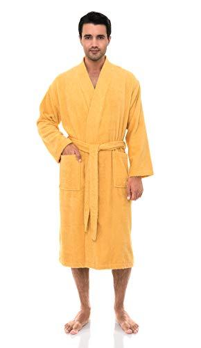 TowelSelections Men's Robe, Turkish Cotton Terry Kimono Bathrobe X-Large/XX-Large Golden Cream