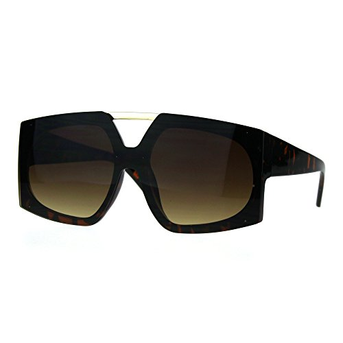Super Oversizes Sunglasses Womens Dramatic Futuristic Fashion Shades Tort, - Futuristic Shades