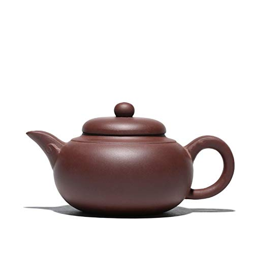Teapot Chinese Teapot Hand Purple Clay Ore Clouds Teapot Teapot Kung Fu Tea Household Classic Tea Set (Color : Plain face)