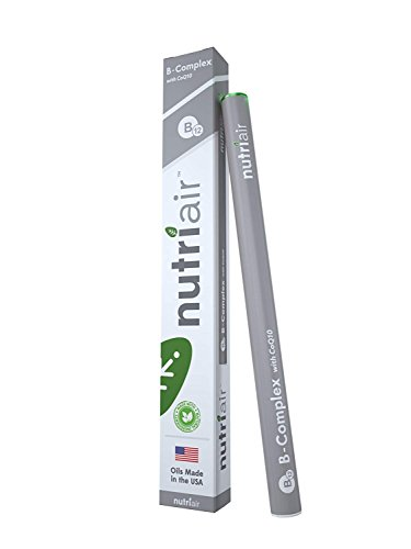Nutriair B-Complex B12 Inhaler - Nutritional Aromatherapy Pen with CoQ10 - Essential B Vitamin/Energy Supplement - B12, B6, B2, B1 - Nicotine Free, Great Tasting Flavor with NO Calories - (1 Pack)