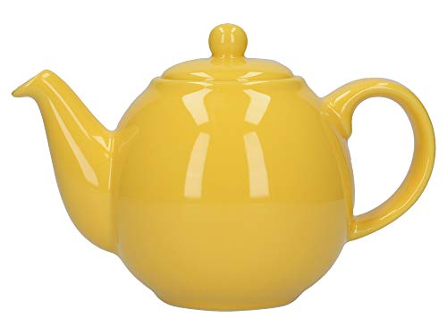 London Pottery Tetera con colador, Globe, ceramica, Amarillo, 2 Cup (500 ml)