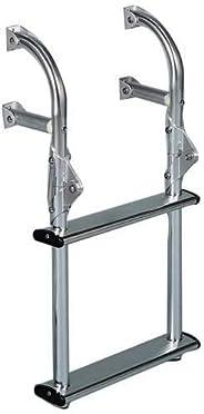 DotLine Universal Mount Aluminum 2 Step Folding Transom Boat Ladder