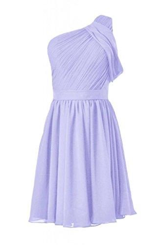 Short Party Dress Vintage Bridesmaid One Chiffon Dress 7 Shoulder lavender DaisyFormals BM280 BHXgw8q8