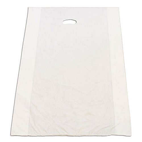 Large Houseables Plastic Merchandise Bags Grocery 20x4x30 Retail Shops & Stores White Pack of 500 NEW by Bentley's Display