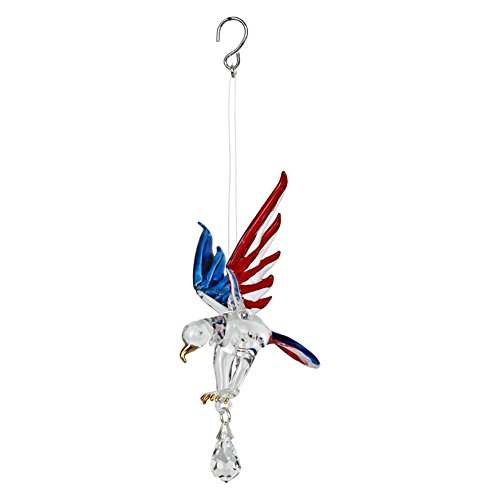 Woodstock Chimes Fantasy Glass Liberty Eagle Wind Spinner (Percussion Street)