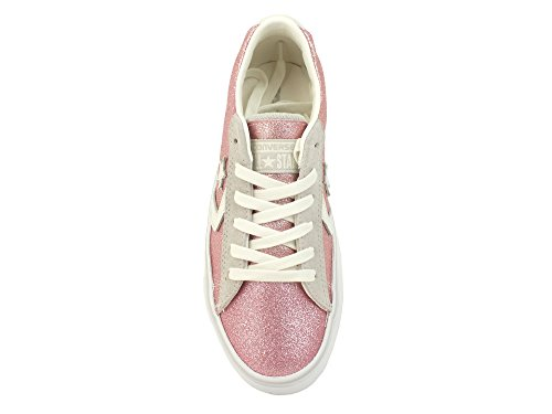 Converse 560968C Pink Pink Shoes Sneakers Woman Laces Leather Glitter Pink