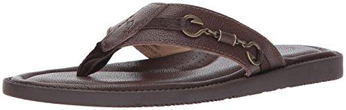 Tommy Bahama Men's Belize Vintage Sandal, Dark Brown, 11 D US