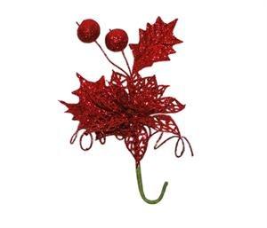 Tanday-6-bouquets-75-6421-christmas-picks-w-poinsettia-flower-mistletoe-evergreen-leaf-Gold