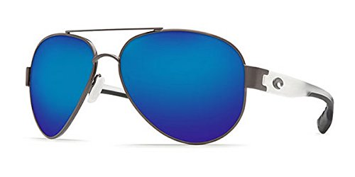 Costa Del Mar South Point Sunglass, Gunmetal w/ Crystal/Blue Mirror 580Glass ()